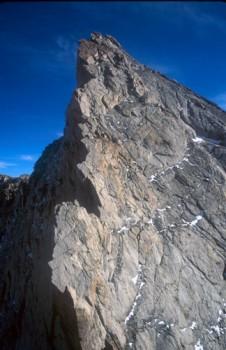 Mt. Conness - North Ridge 5.6 - Tuolumne Meadows, California USA. Click to Enlarge