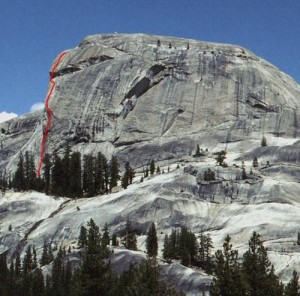 Daff Dome - Witch of the West 5.9 R - Tuolumne Meadows, California USA. Click to Enlarge