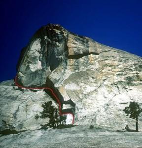 Daff Dome - Cooke Book 5.10a - Tuolumne Meadows, California USA. Click to Enlarge