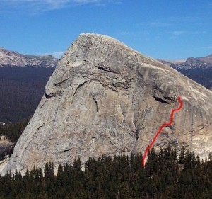 Fairview Dome - Great Pumpkin 5.8 R - Tuolumne Meadows, California USA. Click to Enlarge