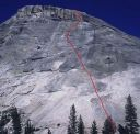 Pywiack Dome - Needle and Spoon 5.10a R- - Tuolumne Meadows, California USA. Click for details.