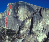 Half Dome - Regular Northwest Face 5.12 or 5.9 C1 - Yosemite Valley, California USA. Click to Enlarge