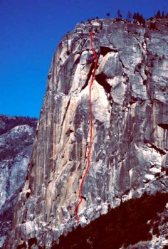 Washington Column - Mideast Crisis A2 5.7 - Yosemite Valley, California USA. Click to Enlarge