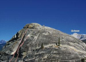 Doda Dome - Bust it Out 5.10a - Tuolumne Meadows, California USA. Click to Enlarge
