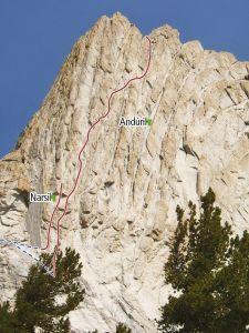 Matthes Crest - Narsil 5.10c - Tuolumne Meadows, California USA. Click to Enlarge