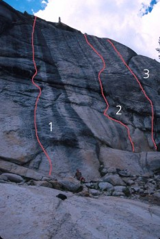 Low Profile Dome - Golfer's Route 5.7 R - Tuolumne Meadows, California USA. Click to Enlarge
