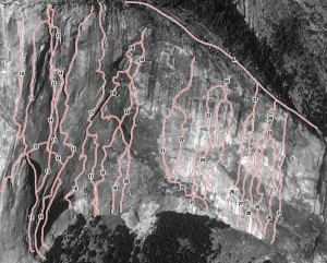 El Capitan - Tribal Rite A4 5.5 - Yosemite Valley, California USA. Click to Enlarge