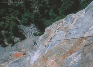 Steve Rathbun enjoying fresh air above Ahwahnee Ledge, Wet Denim Daydr...