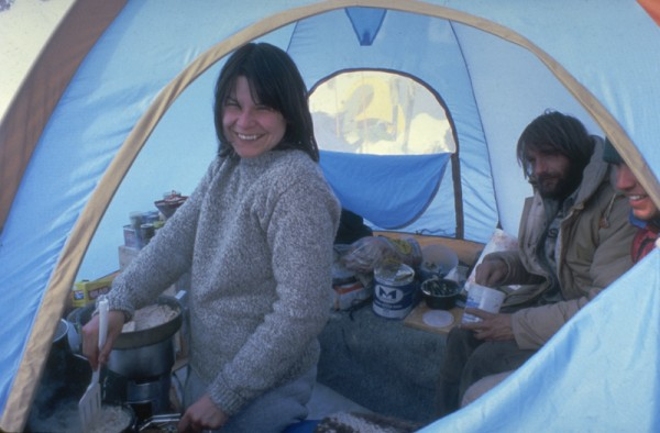 Barbara making breakfast