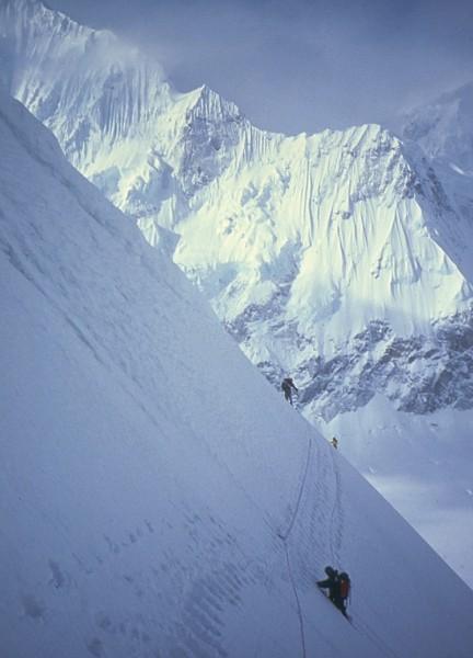 Mt. Huntington's French Ridge is a nice backdrop