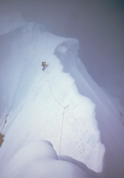 The upper East Ridge, 11,500'