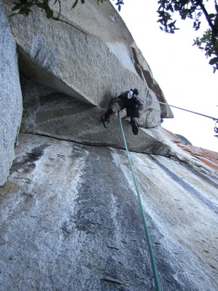 Leading the fifth pitch