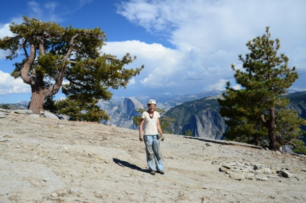 At the top, taken by a lovely hiker who also gave me a chocolate bar.