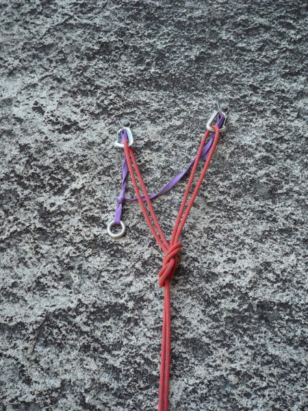 Double Figure Eight Knot - The speed climbers anchor of choice.