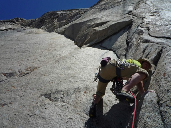 Tommy Caldwell starting up the crux endurance pitch of the South Face ...