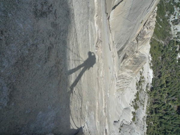 Self portrait. Looking down the South Face.