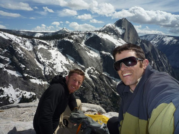 Me and Tommy on the summit of Watkins with Half Dome in the background...